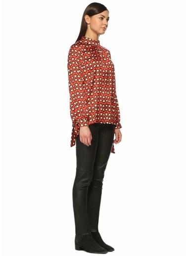 Uzun Kollu Desenli Bluz-Glamorous